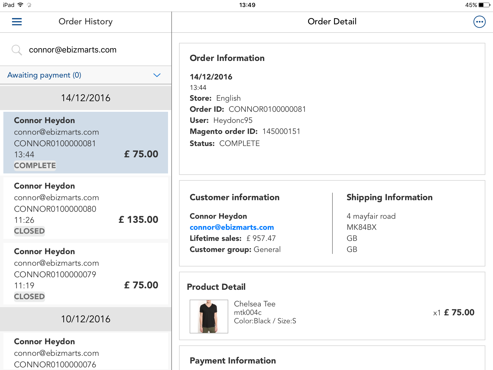 Creating Giftcards in POS App